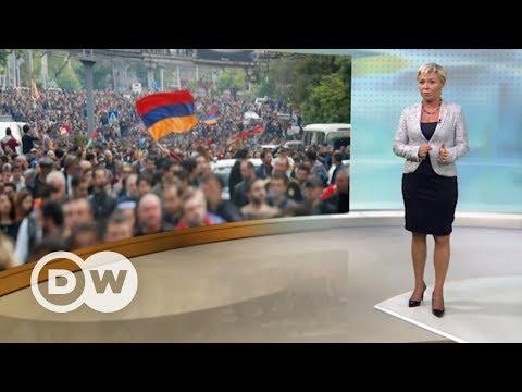 Саргсян ушел в отставку: шок для Путина? - DW Новости (23.04.2018) видео