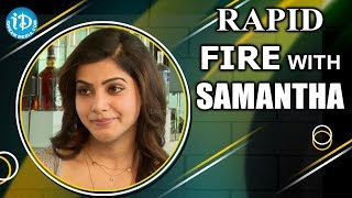 Video Rapid Fire - 50 Things To Know About Samantha || #AAaMovie || Talking Movies With iDream MP3, 3GP, MP4, WEBM, AVI, FLV Desember 2018
