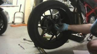 6. Ducati Rear Wheel Removal 848 1098 1198