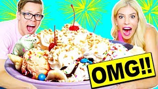 Video WORLD'S LARGEST ICE CREAM SUNDAE!! 100,000+ CALORIES! MP3, 3GP, MP4, WEBM, AVI, FLV Maret 2018