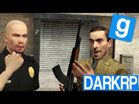 GUERRE VILLE CONTRE POLICE !! - Garry's Mod DarkRP (видео)