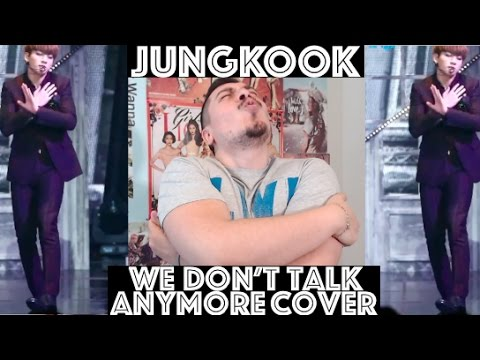 BTS JUNGKOOK We Don't Talk Anymore Cover REACTION (видео)