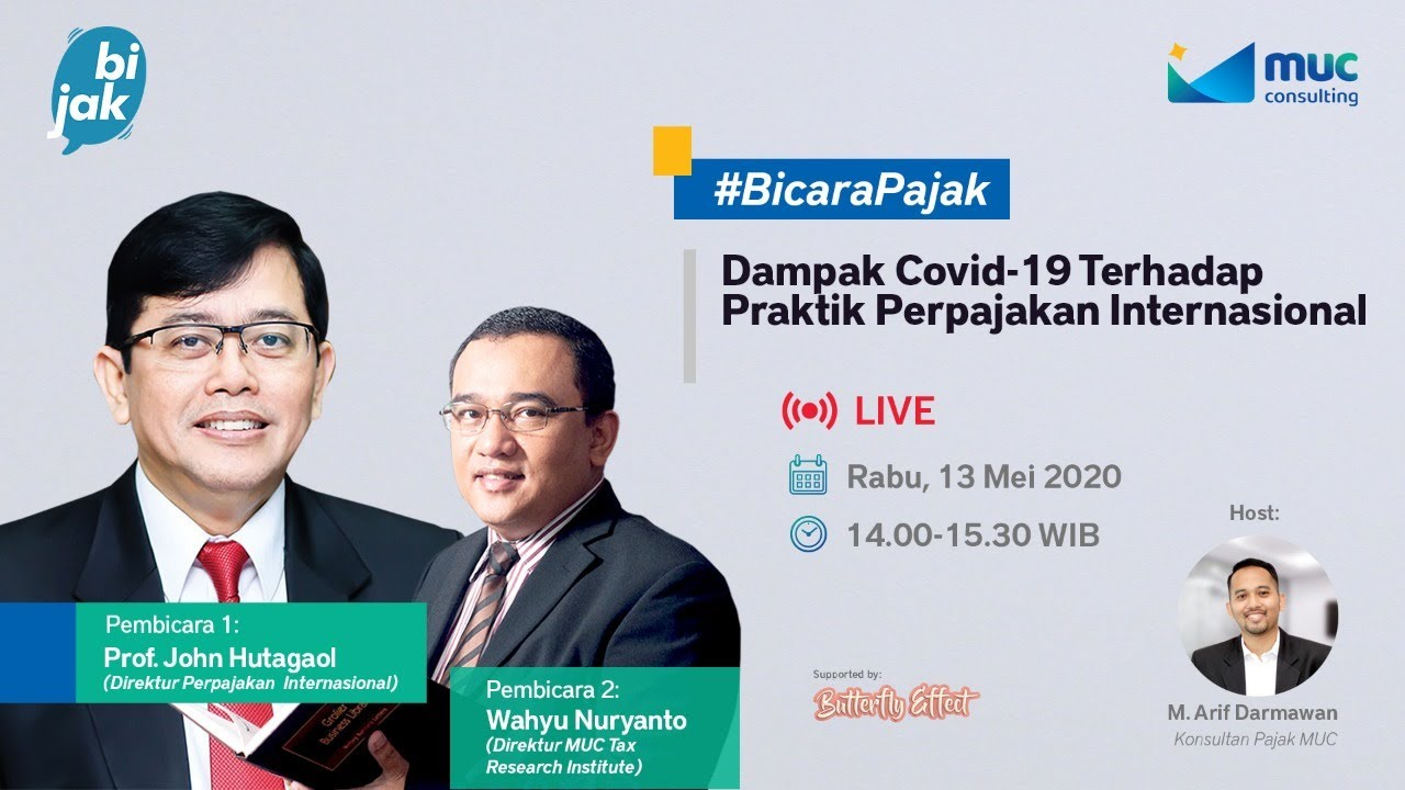 MUC Bijak #3: Impact of Covid-19 on International Taxation Practices
