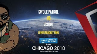 Swole Patrol vs Vision - IEM Chicago 2018 NA Quals - map2 - de_overpass [Anishared]