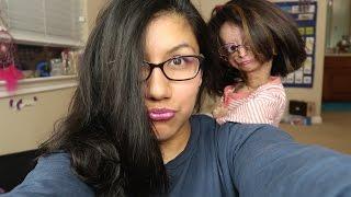 Makeup tutorial on my mom!!