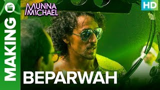 """Check out the other exclusive videos of """"Munna Michael"""" here: http://bit.ly/MunnaMichaelOfficialVideosWatch Tiger Shroff explain, what went into his most 'Challenging' dance song yet, in this exclusive behind the scenes snippet from the video song 'Beparwah'.Song Name: BeparwahMusic Composer: Gourov- RoshinSingers: Siddharth Basrur and Nandini DebLyrics: KumaarProgrammed & Arranged By: Roshin BaluFor caller tunes dial:Airtel - 5432116276138Vodafone - 5379606235Idea - 567899606235BSNL (South/East) - SMS BT space 9606235 To 56700BSNL(North/West)IMI - SMS BT space 6699608 To 56700Aircel - SMS DT space 6699608 To 53000Movie: Munna MichaelCast: Tiger Shroff, Nawazuddin Siddiqui & Nidhhi AgerwalDirected By: Sabbir KhanProduced By: Eros International & Viki Rajani""""Munna Michael"""" releases in theaters on 21st July, 2017.To watch more log on to http://www.erosnow.comFor all the updates on our movies and more:https://www.youtube.com/ErosNowhttps://twitter.com/#!/ErosNowhttps://www.facebook.com/ErosNowhttps://www.facebook.com/erosmusicindiahttps://plus.google.com/+erosentertainmenthttp://www.dailymotion.com/ErosNowhttps://vine.co/ErosNow http://blog.erosnow.com"""