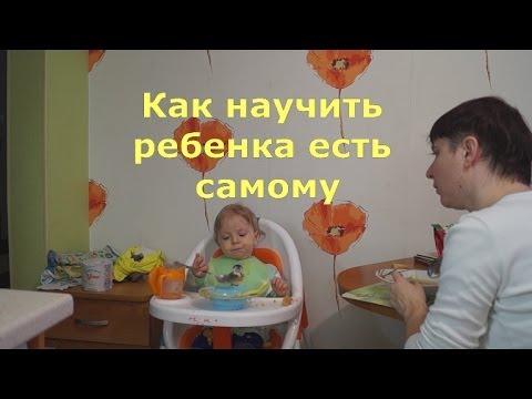 Как научить ребенка есть самому