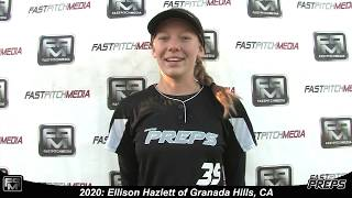 2020 Ellison Hazlett Catcher Utility Softball Skills Video - Easton Preps