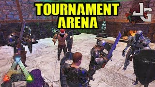 I went to the sword arena tournament with my tribe mate Mango. Sorry for hes keyboard sound... I'm almost ready to kill him.. :-)The rules are simple:2 persons pr. tribe. Last man/tribe standing win.Primitive flak gear, swords and shields was provided by the admin.What are we fighting for?Grand Prize that was two max level perfect tamed rexes with awesome saddles. And ofc honor!MUSIC:TheFatRat - Monody (feat. Laura Brehm)TheFatRat - The Calling (feat. Laura Brehm)SUBSCRIBE to learn more about ARK!http://www.youtube.com/subscription_center?add_user=jonesy-gamingPATREON: Let's support each other!https://www.patreon.com/JonesyGamingHOST your own ARK server?https://hosthavoc.com/billing/aff.php?aff=589