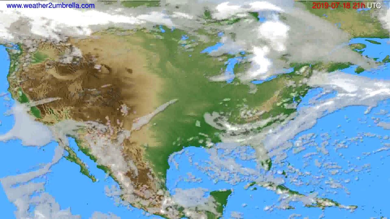 Cloud forecast USA & Canada // modelrun: 00h UTC 2019-07-17