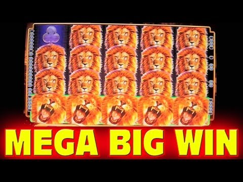 King of Africa MEGA BIG WIN WITH PROGRESSIVE Las Vegas Slot Machine Win