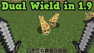 Minecraft 1.9 - Off Hand Slot - Dual Wield Weapons... or FISH