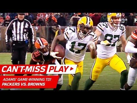 Video: Adams Grabs Game-Winning TD in OT After Green Bay Picks Off Kizer! | Can't-Miss Play | NFL Wk 14