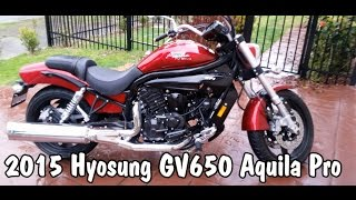 2. Hyosung GV650 Aquila Pro Review