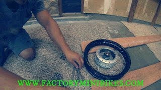 10. Klx110L black excel wheel install.( Build Series)