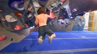 Nikken Is Trying His Hardest On His 8A Project ( Pink Problem ) by Eric Karlsson Bouldering