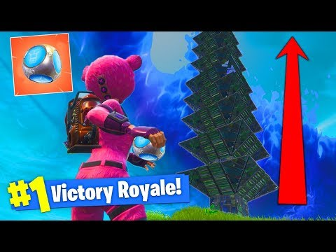 Building The *BIGGEST* PORT-A-FORT BASE In Fortnite Battle Royale!