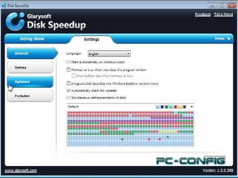 Glarysoft Disk SpeedUp, program gratuit de defragmentare a hardisk-ului