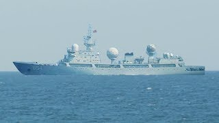 A Chinese spy ship catches a free fireworks display courtesy of the THAAD missile defense system. This video is the second ...
