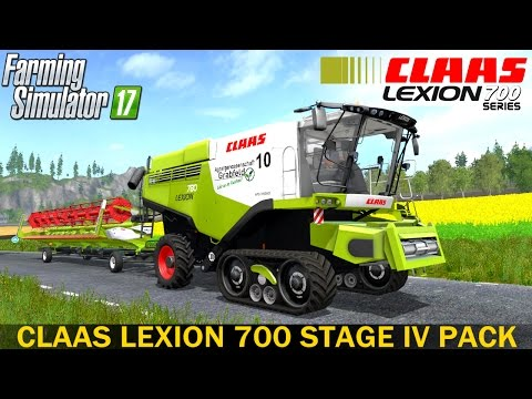 Claas Lexion 700 STAGE IV Pack v1.0