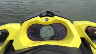 9. 2015 Seadoo gtr 215 top speed test run.