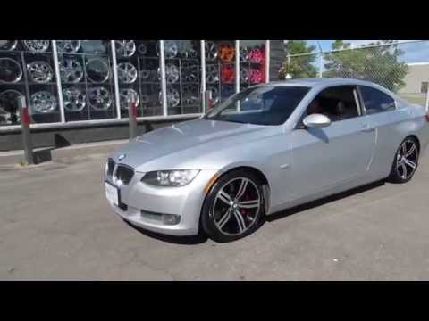 HILLYARD RIM LIONS 2006 BMW 3 SERIES COUPE RIDING ON 18 INCH M6 WHEELS & LOW PRO TIRES