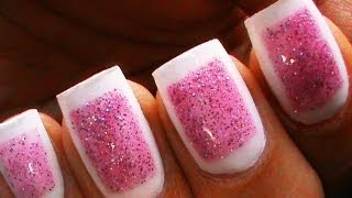 Framed Glitter Nails - Cute Glitter Polish Designs Sparkle Beginners Short Long Nail Art Tutorial