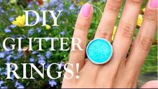 DIY GLITTER RINGS! - YouTube