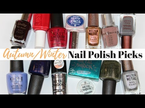 Top 10 Autumn/Winter Nail Polish Picks and Trends 2017