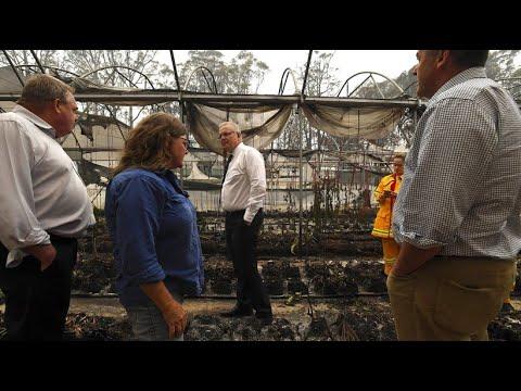Australien: Anwohner beschimpfen Premier Morrison