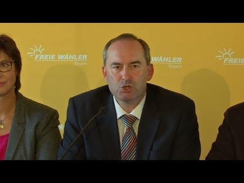 Regierung in Bayern: Koalition von CSU und Freien Wäh ...