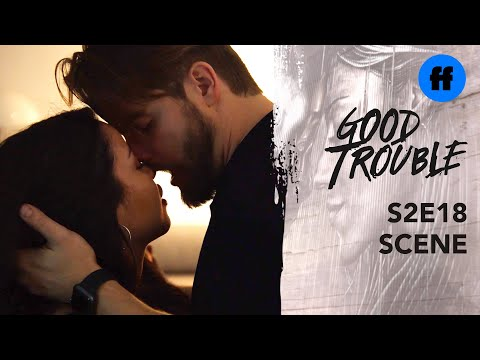 Good Trouble Season 2, Finale | Evan & Mariana Kiss For The First Time | Freeform