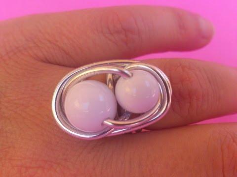 DIY: Como hacer anillo de alambre con bola doble.