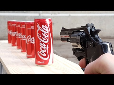 EXPERIMENT GUN vs COCA COLA (видео)