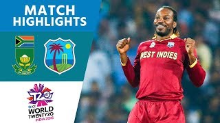 Windies Progress to Semis! | South Africa vs West Indies | ICC Men's #WT20 2016 - Highlights