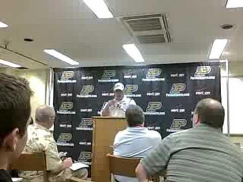 Joe Tiller Press Conference