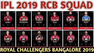 IPL 2019 Royal Challengers Bangalore Team Squad | RCB Confirmed & Final Squad | RCB Players List