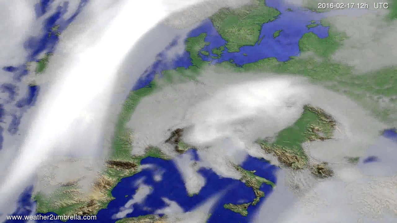 Cloud forecast Europe 2016-02-15