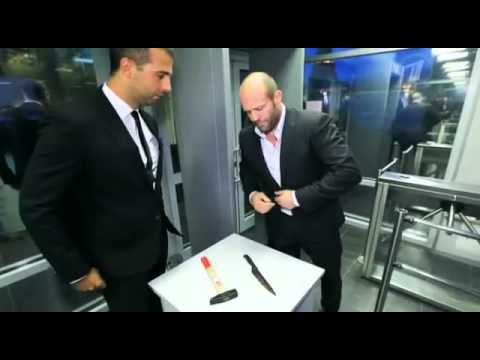 "Jason Statham on Russian TV in the ""armed"" into. very funny video 2013"