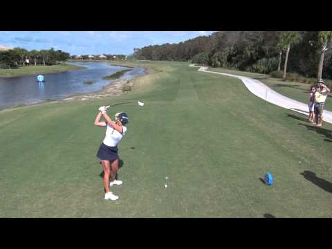 GOLF SWING 2012 – NATALIE GULBIS DRIVER – ELEVATED DTL & SLOW MOTION – HQ 1080p HD