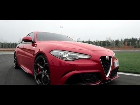 Alfa Gulia Quadrifoglio Driving and Drifting