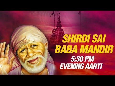 Shirdi Sai Baba Evening Aarti (5:30 PM) by Suresh Wadkar | Full Mandir Sunset Dhoop Aarti