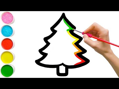 Pohon Natal Ajaib & Ornamen Menggambar, Mewarnai untuk Anak-Anak Balita #47