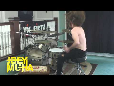 Heavy Metal Drummer Drumming To I m A Little