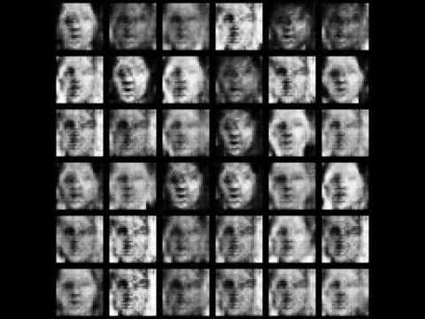 GAN Demo: Training to synthesize faces
