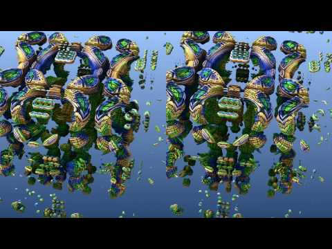 Mandelbox Cross-Eye 3D Trip (aka The Clownbox)