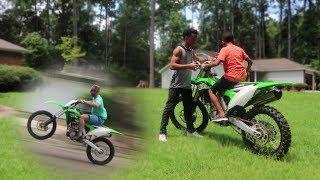 10. 11 Year Old Rides KX250f + Wheelies!!