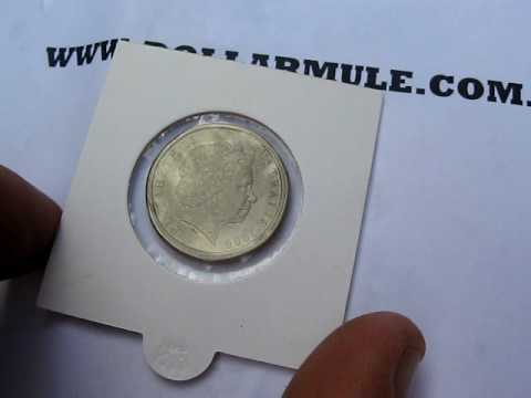 Rare Australian Decimal Coin - 2000 $1 / 10c Mule.