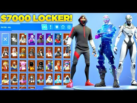 My $7000 Fortnite Locker Showcase! 300+ Skins & All Fortnite Emotes! (Fortnite Battle Royale)