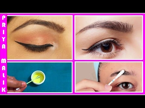 How to Get Thick Eyebrows Fast Naturally || Home Remedy for Dark and Thick Eyebrows